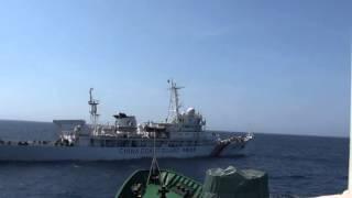 Cảnh sát biển Việt Nam đối phó với tàu Trung Quốc gần giàn khoan Haiyang 981