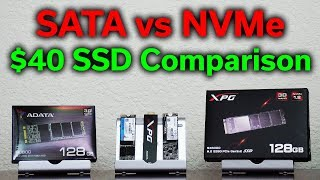SATA vs NVMe - $40 Budget SSD Comparison - Which Should You Buy?