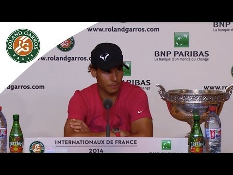 Press conference Rafael Nadal 2014 French Open Final