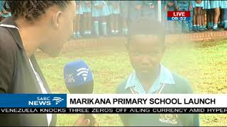 Marikana Primary School launch Friday