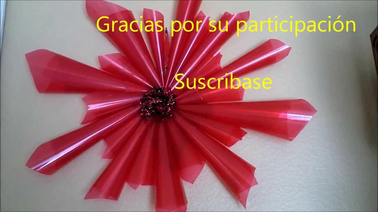 Corona o guirnalda de navidad con material reciclado - Como hacer guirnaldas de navidad ...