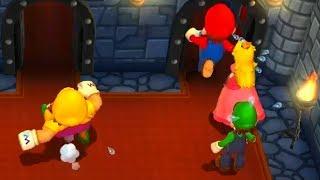 Super Mario - Mario Party 9 Minigames, Mario vs Luigi vs Wario vs Peach