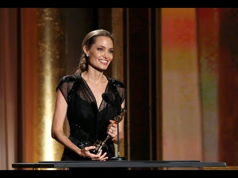 Angelina Jolie Pays Tribute To Brad Pitt, Her Children And Her Mother At Honorary Oscars video