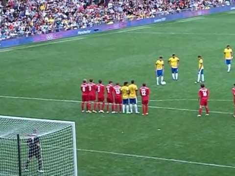 Neymar amazing free kick GOAL vs Belarus Olympics 2012