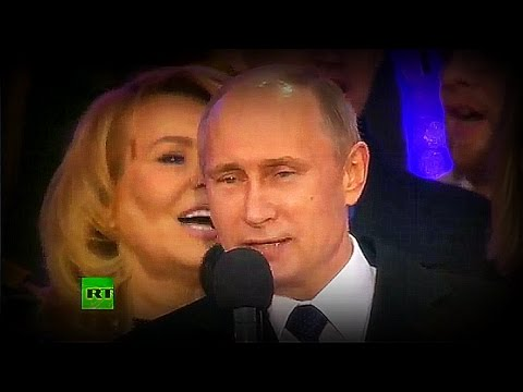 Putin sings national anthem at Red Square Crimea celebration | #News & #Politics