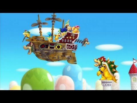 "New Super Mario Bros. U: Castelo da Peach + Final do Jogo - ""Peach's Castle"" - Nintendo Wii U"