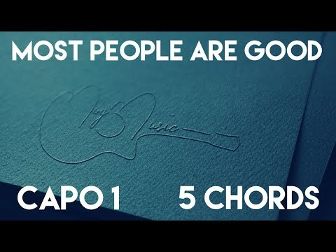 How To Play Most People Are Good by Luke Bryan   Capo 1 (5 Chords) Guitar Lesson