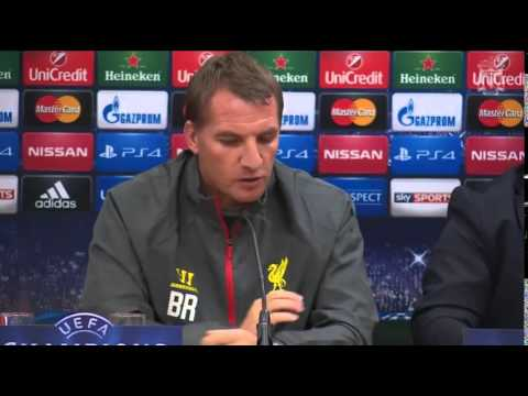 Brendan Rodgers Pre Real Madrid Press Conference