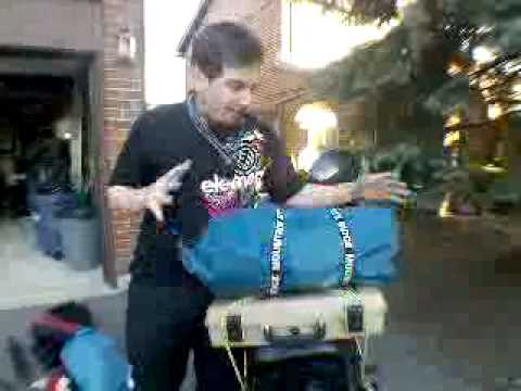 HAA Day 12: Motorcycle luggage and packing my bike Video