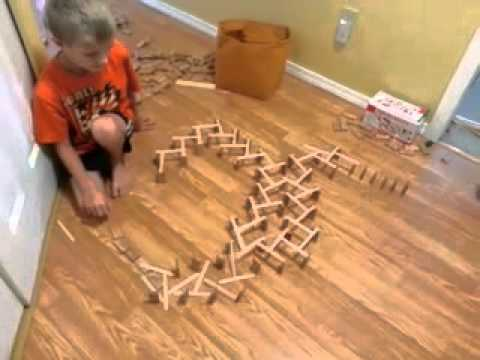 how to make popsicle stick domino effect