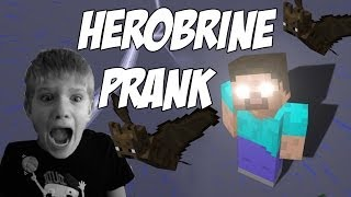 Minecraft TROLLING my 7 year old brother! HEROBRINE is REAL!