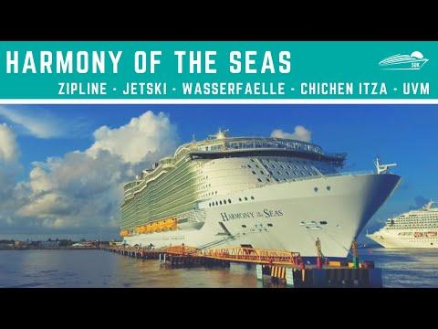 Harmony of the Seas: Karibik Kreuzfahrt | Jetski | Wasserfälle | Chichen Itza | Zipline | uvm.