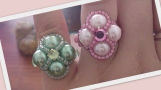 Madame Beaded Ring Beading Tutorial by HoneyBeads1 (Photo tutorial)