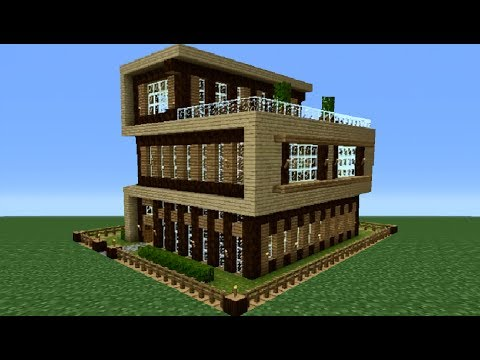 Minecraft 360: Modern House Tutorial House Number 4