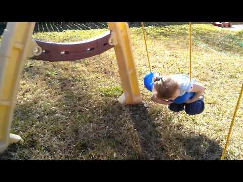 Brooklyn Clara learns to swing