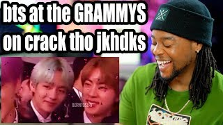 BTS at Grammys on Crack | How did RM do with Handshakes?