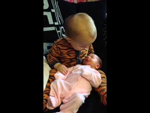 Brothers First Cuddles With Baby Sister. Leo And Esme Xxx video