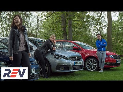 The REV Test: Small estate cars. Peugeot 308 SW vs Skoda Octavia estate vs Volkswagen Golf estate