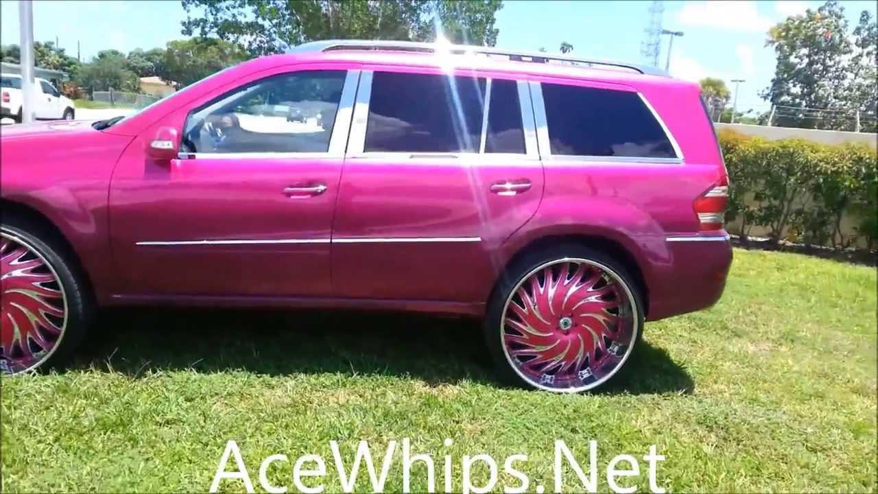 Acewhips net sudamar candy magenta pink mercedes benz gl for Pink mercedes benz