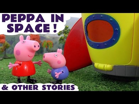 Peppa Pig In Space & Play Doh Halloween Episodes with Thomas and Friends Toys & Surprise Eggs