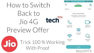 Reliance Jio 4G Switch Back to Preview offer | How ?