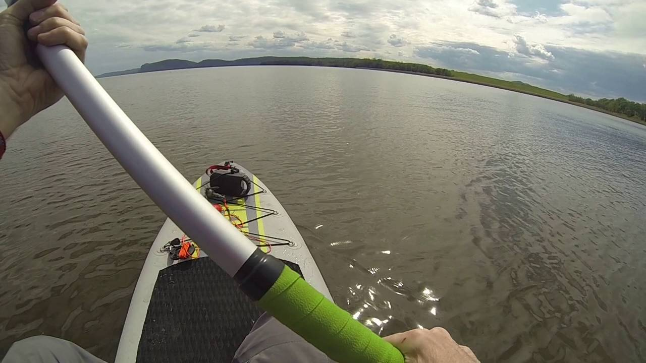 Isle Explorer Inflatable Paddle Board  Fishing  Hudson River
