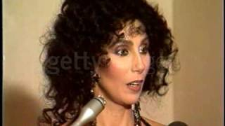 Cher at the Golden Globe Interview (1988)