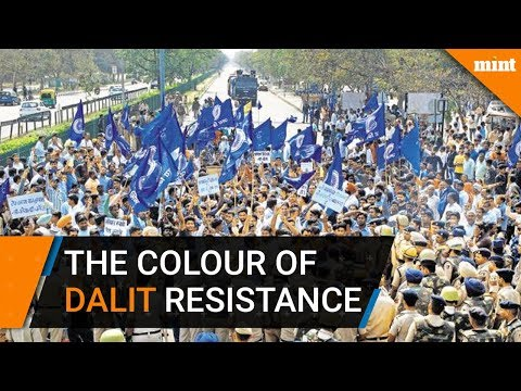 Why is blue the colour of Dalit resistance? Dalit, Dalit protest, SC/ST Act, B.R. Ambedkar