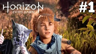 Horizon Zero Dawn Gameplay PS4 (Hard) Part 1 - The Outcasts