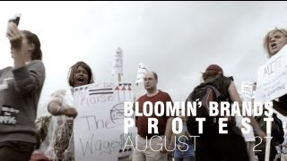 Protesters Take On Bain Capital-owned Bloomin' Brands in Tampa