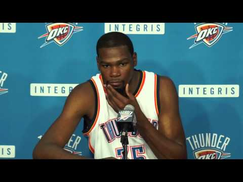 2014 Thunder Media Day With Kevin Durant