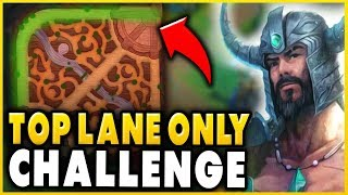 WIN RANKED WITHOUT LEAVING TOP LANE CHALLENGE! CHALLENGER RANK 1 TRYND CHALLENGE- League of Legends