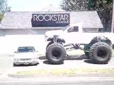 gina lynn's monster truck crushing car Video