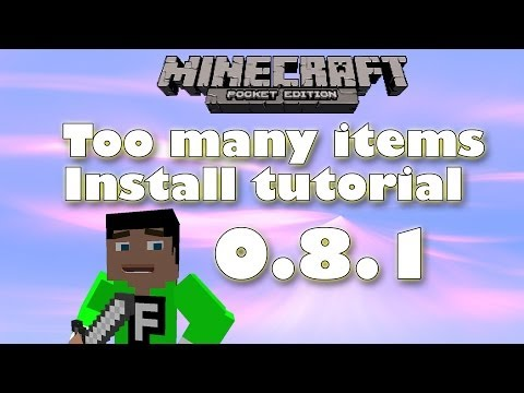[0.8.1] Minecraft Pocket Edition - How to install Too many items mod