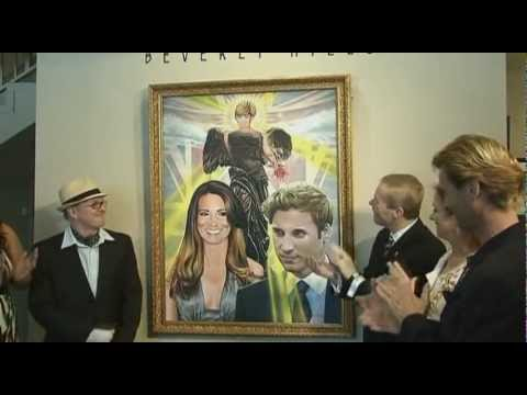 Painting of Princess Diana with Prince William and Kate Middleton