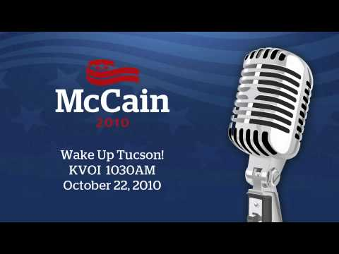 Senator McCain on Wake Up Tucson Radio_Oct 22