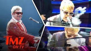 Elton John Takes It In The Face! | TMZ TV
