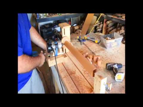 Homemade Tools - router duplicator (copier) Lathe!