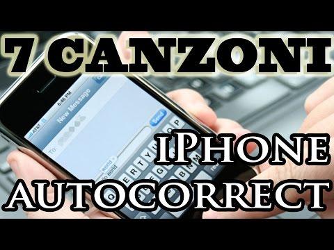 7 canzoni italiane con l'AUTOCORRECT dell'IPHONE