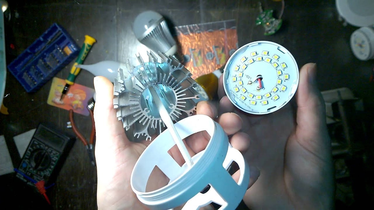 Ремонт светодиодных ламп космос своими руками
