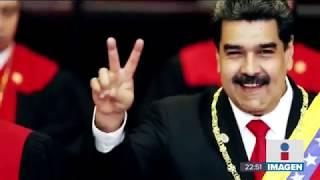 """Nicolás Maduro grita """"¡Qué viva México!"""" en su toma de protesta para gobernar hasta 2025"""