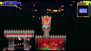 Terraria: NEW RECORD: Frost Moon semi-autofarm Final Wave time 1:15am