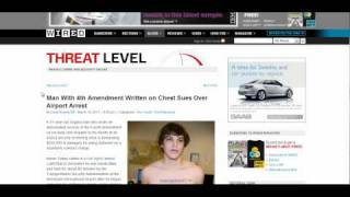 TSA Admits Bungling of Airport Body-Scanner Radiation Tests! Man arrested with 4th amend on chest