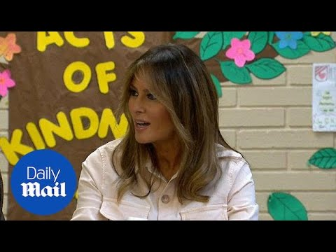 First Lady Melania Trump visits Texas facility for migrant children - Daily Mail