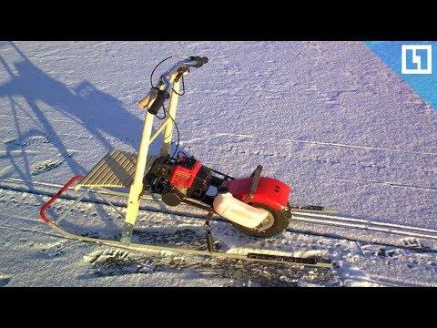Финские сани с мотором для рыбалки своими руками
