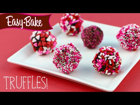 How to Make Valentine's Day Themed Chocolate Truffles with the Easy Bake Oven!