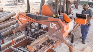Wood-Mizer LX450 Twin Rail Sawmill in Action in South Africa