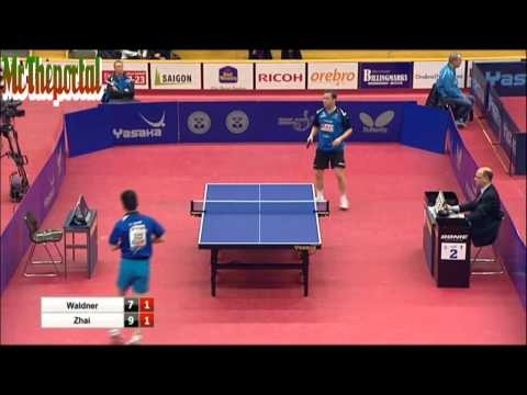 Table Tennis - Jan Ove Waldner Vs Zhai Yujia - Safir Open 2014
