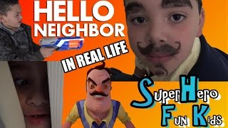 HELLO NEIGHBOR IN REAL LIFE 1👀👣CREEPY 👣👀 NEIGHBOR'S SECRETS MUST BE FOUND🔑