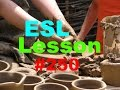 Frame from Learning English through Photos - make into, cut out, mold - ESL Lesson 250
